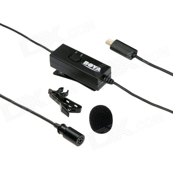 BOYA BY-GM10 Omni Directional Condenser Lavalier Mic for GoPro Hero