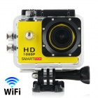 "Smartron Wi-Fi  1.5"" TFT 170 Degree FHD 1080p Waterproof Action Sport Digital Video Camera - Yellow"