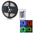 24W 3528 SMD Light Strip RGB Light 950lm w/ 24-Key Controller - White + Black (5M / DC 12V)