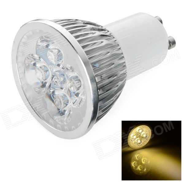 GU10 4W 350lm 4-LED Warm White Light Lamp (85~265V)