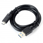 USB 3.0 Male to USB 3.1 Type-C Male Data Cable - Black (1m)