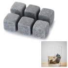 Magic Beverage Drink Cooler Granite Stones for Whiskey / Red Wine - Grey (6 PCS)