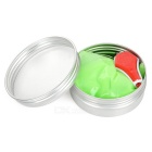 Glow-in-the-Dark Magnetic Plasticine w/ Mini Flashlight Keychain - Green