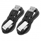 MINI SMILE USB 2.0 to Magnetic Charging Cables for Sony Z3 / Z3 Mini - Black + Silver (2 PCS)