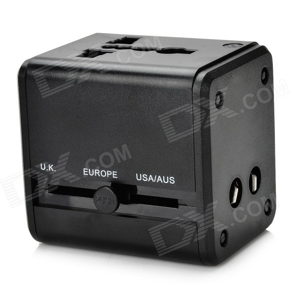 Global Universal Dual-USB Power Adapter (US / EU / UK / AU Plug)
