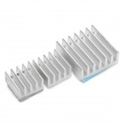 3-in-1 Aluminum Heat Dissipation Cooling Heat Sinks - Silver