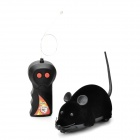 Wireless Remote Control Lifelike Rat Mice Toy w/ Remote Controller - Black