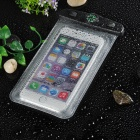 "Waterproof Armband Bag w/ Strap for 4.5~5.5"" Phone - Transparent+Black"
