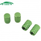 Automobile Car Tire Tread Valve Caps - Green (4 PCS)