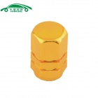 Automobile Hexagonal Valve Core Cap - Golden (4PCS)