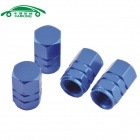 Automobile Hexagonal Valve Core Cap for Car Accessories - Blue (4 PCS)