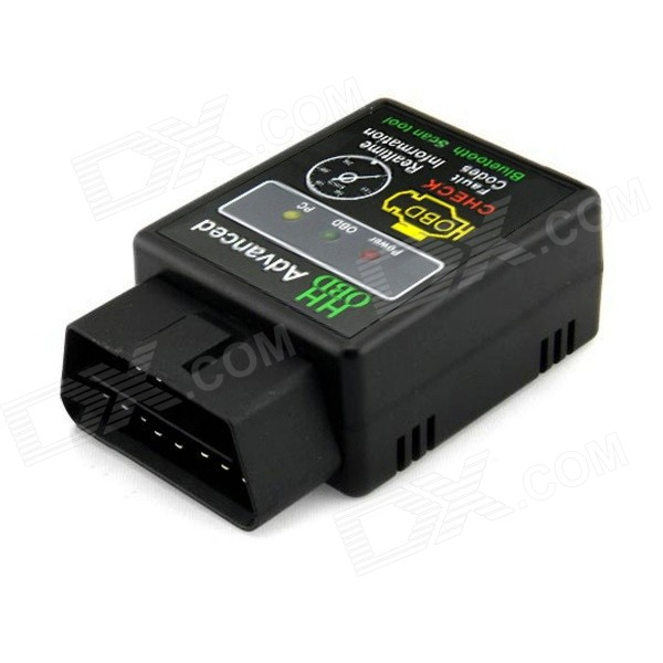 Mini ELM327 Bluetooth V2.1 OBD2 Car Wireless Scanner Tool - Black