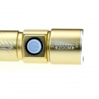 USB Rechargeable 3-Mode 400lm Zoomable Flashlight Torch - Gold