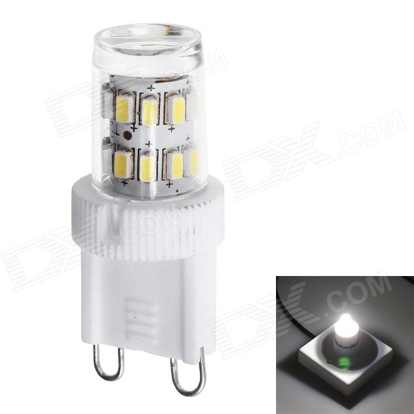 G9 1.8W LED Ceramic Corn Bulb Cold White Light 110lm SMD 3014 (AC220V)