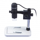 UM012C USB 5MP HD 8LED Digital 300X Video Microscope Set Magnifier Camera - Black