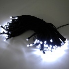 IN-Color IN-100 2W Solar Powered White 100-LED String Light - Black