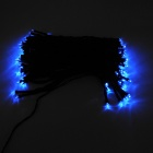 En color IN-100 2W solar alimentado azul 100-LED string luz - negro
