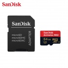 SanDisk 64GB Extreme Pro 633x MicroSDXC UHS-I Flash Memory Card w/ SD Adapter