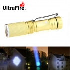 Ultrafire Mini XR-E R2 280lm 3-Mode White Zoomable Фонарик - Золотой