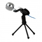 SF-922B USB 2.0 Wired Desktop Microphone w/ Tripod - Black (130cm-Cable)