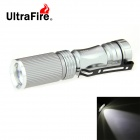 UltraFire Mini XR-E R2 280lm 3-Mode White Zoomable Flashlight - Silver (1 x 14500)
