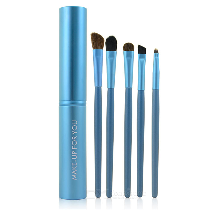 MAKE-UP FOR YOU Portable 5-in-1 Cosmetic Make-up Brushes Set - Blue