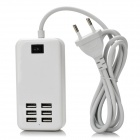 30W 5V 6A 6-Port USB Desktop Charger for Tablet PC / Phone - White (EU Plug)