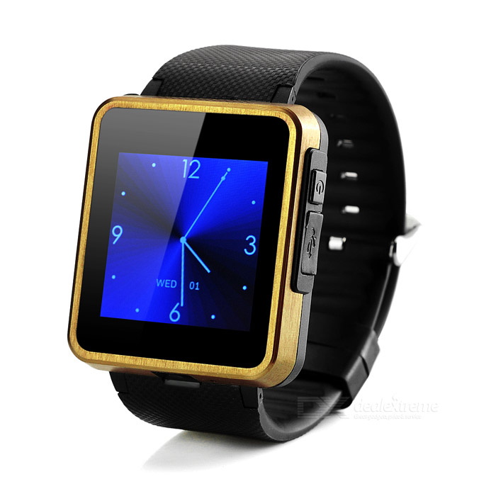 "F1 Waterproof 1.55"" GSM Smart Phone Watch w/ 128MB RAM - Black"