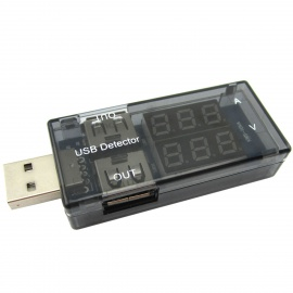Dual LED Display USB Power Charger Current Voltage Tester USB Detector