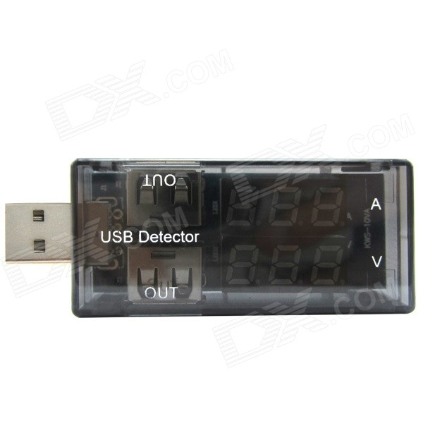 High Voltage Detector With Display : Dual led display usb power charger current voltage tester