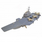 Auto-Induction Aircraft-Carrier + Solar Powered Planes Toy Set - Grey + Wood Color (3 x AA)