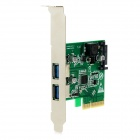 IOCREST IO-PCE1142-2A PCI Express to 2-Port USB 3.1 Host Controller Card - Green
