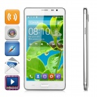 "N9100 MT6572 Dual-core Android 4.4.2 WCDMA Bar Phone w/ 5.5"" IPS, GPS, Wi-Fi - White + Silver"