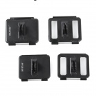 RUITAI GP319 4-in-1 Backdoor Mounts Set for GoPro Hero 3 / 3+ / 4 - Black