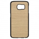 XC Wood Grain Pattern Protective PC + TPU Back Case for Samsung Galaxy S6 - Wood Color + Black