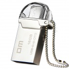 DM PD008 16GB USB 2.0 OTG Flash Drive with Twin Connector for Smart Phone and Computer - Silver