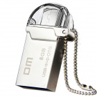 DM PD008 8GB USB 2.0 OTG Flash Drive with Twin Connector for Smart Phone and Computer - Silver