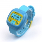 RQ QR-01 Children Positioning Smart Watch w/ Two-way Conversation / One Key SOS / GPS / LBS - Blue