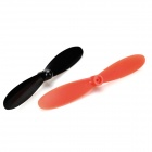 ABS Blade Set for Hubsan X4 H107L/H107C/H107D - Black + Red (5PCS)