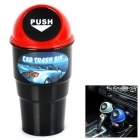 Mini Car Trash Bin - Black + Red