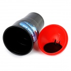 Mini Bottle Car Trash Bin - Black + Red