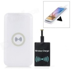 Cwxuan Qi Wireless Charger Anti-Slip Pad + Micro USB Receiver Kit for Smart Phones - White