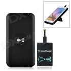 Cwxuan Qi Wireless Charger Anti-Slip Pad + Micro USB Receiver Kit for Smart Phones - Black