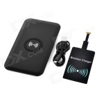 Cwxuan Qi Wireless Charger Anti-Slip Pad + Micro USB Receiver - Black