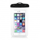 "Waterproof PVC + ABS Armband Bag Pouch w/ Strap for 4.5""~5.5"" Phone - Black + Transparent White"