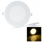9W LED Round Panel Ceiling Lamp Warm White 3000K 480lm SMD 2835 - White (AC 85~265V)