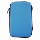 "Shockproof Water-resistant Hard Shell PU + EVA Pouch for 2.5"" Mobile Hard Disk / Power Bank - Blue"
