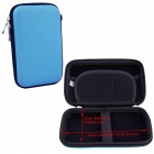 "Hard Shell PU + EVA Pouch for 2.5"" Hard Disk / Power Bank - Blue"