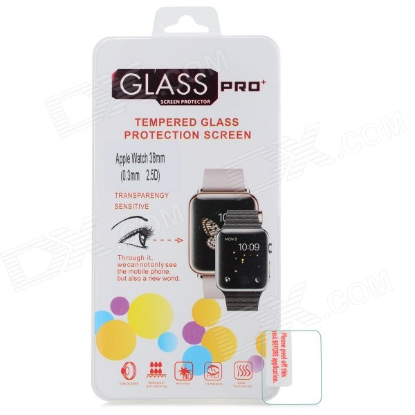 38mm 2.5D Arc Tempered Glass Screen Protector for Apple Watch
