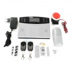 "GSM 2.7"" LCD Wireless Smart Home Security Alarm System Set - White + Black (EU Plug)"
